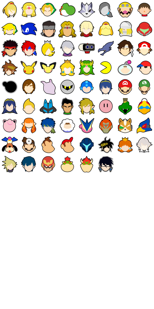 Smash Ultimate Stock icons
