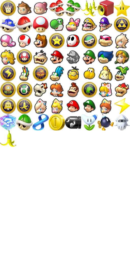 Mario Kart 8 Deluxe Badge Set Theme Plaza