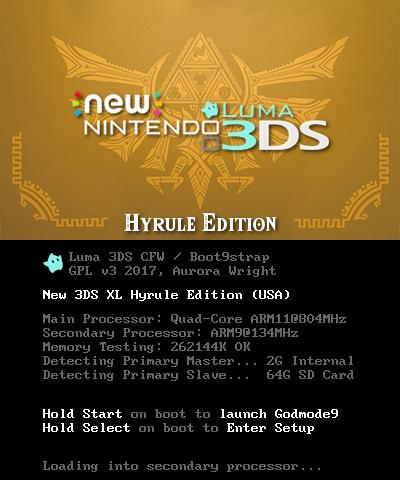 N3DSXL Hyrule Edition BIOS | Theme Plaza