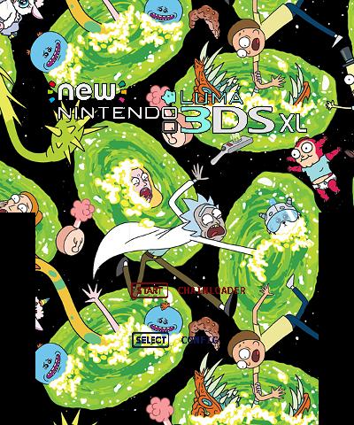 Rick and Morty Splash N3DSXL | Theme Plaza