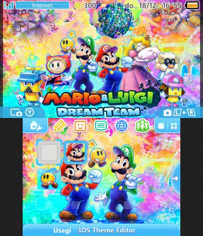 Mario Luigi Dream Team Theme Plaza